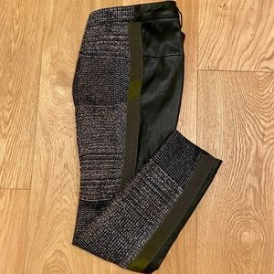 Haider Ackermann Lurex and Leather Panel Trousers
